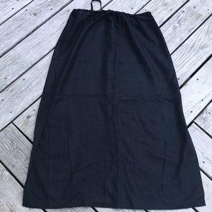 Eddie Bauer Drawstring Waist Linen Skirt